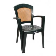 Πλαστική Καρέκλα με Πλάτη σε στυλ Ψάθας. Τρία Χρώματα OEM 90x59x51 48x46 Καθίσμα