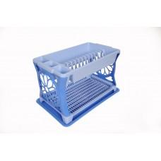 Πλαστική Πιατοθήκη Διώροφη με Δίσκο Μαργαρίτα OEM 0148 48x30,5xΥ29εκ - Μπλέ