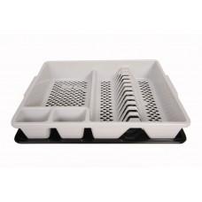 Πλαστική Πιατοθήκη με Δίσκο OEM 0109 46x37,5xΥ9εκ - Άσπρη