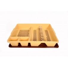 Πλαστική Πιατοθήκη με Δίσκο OEM 0109 46x37,5xΥ9εκ - Μπεζ
