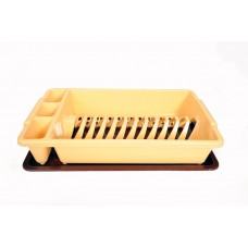 Πλαστική Πιατοθήκη με Δίσκο OEM 0175 44,5x26,5xΥ9εκ - Μπεζ