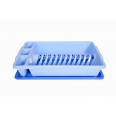 Πλαστική Πιατοθήκη με Δίσκο OEM 0175 44,5x26,5xΥ9εκ - Θαλασσί
