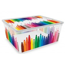 Κουτί Αποθήκευσης με Καπάκι C Box Colours M.