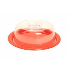 Τουρτιέρα Πλαστική Μικρή OEM A136 Φ25xΥ10εκ - Κόκκινη