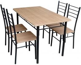 Σετ Τραπέζι Κουζίνας με 4 Καρέκλες OEM 70x120x75υψ. Τραπέζι - Καρέκλα 38x38x43υψ