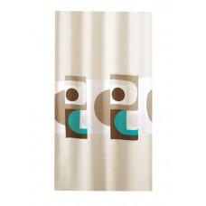 Κουρτίνα Υφασμάτινη Happy Bath 180x200 MINIMAL/TYRQUOISE