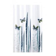 Κουρτίνα Υφασμάτινη Happy Bath 180x200 BUTTERFLIES/GREY