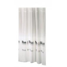 Κουρτίνα Υφασμάτινη Happy Bath 180x200 MAN & WOMAN/GREY