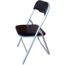 Καρέκλα Μεταλλική Πτυσσόμενη Μαύρη 44x39x75 OEM 727056