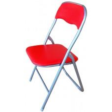 Καρέκλα Μεταλλική Πτυσσόμενη Κόκκινη 44x39x75υψ. OEM 727063