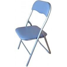 Καρέκλα Μεταλλική Πτυσσόμενη Γκρι OEM 44πλx39βαθx75υψ.