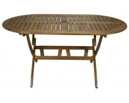 Τραπέζι Ξύλινο Οβάλ Πτυσσόμενο 70x120εκ OEM TAB-NE12F/AC