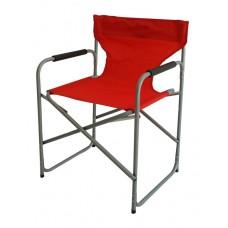 Καρέκλα Σκηνοθέτη μεταλλική Κόκκινη OEM 53x45x78υψ.