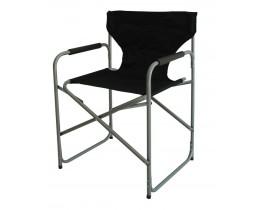 Καρέκλα Σκηνοθέτη μεταλλική Μαύρη OEM 53x45x78υψ.