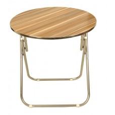 Τραπέζι Κουζίνας Πτυσσόμενο Στρογγυλό 80εκ.80x72υψ. OEM FURN-80