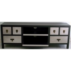 Έπιπλο Τηλεόρασης Ξύλινο Μαύρο 138x34,5x52υψ. OEM 725120
