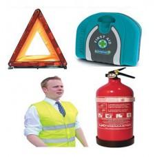 Σετ Ασφαλείας Αυτοκινήτου - Κουτί Πρώτων Βοηθειών - Πυροσβεστήρας 1kg - Τρίγωνο - Γιλέκο OEM