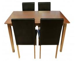 Σετ Τραπέζι Με 4 Καρέκλες Nova OEM 75x120x75υψ.