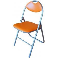 Καρέκλα Μεταλλική Πτυσσόμενη Πορτοκαλί OEM 44πλx39βαθx75υψ.