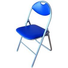 Καρέκλα Μεταλλική Πτυσσόμενη Μπλε OEM 44πλx39βαθx75υψ.