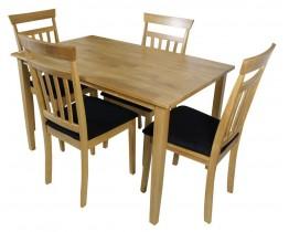 Σετ Τραπέζι Με 4 Καρέκλες Kara OEM 75x120x74υψ.