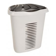 Καλάθι Απλύτων Πλαστικό OEM 0267 45x34xΥ51 - 50lt. - Γκρι Με Μαύρο