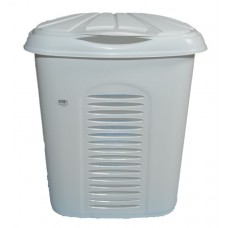 Καλάθι Απλύτων Πλαστικό OEM 0267 45x34xΥ51 - 50lt. - Λευκό