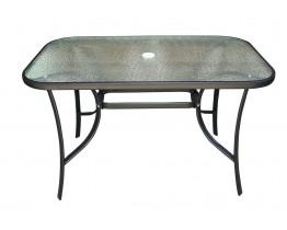 Τραπέζι Μεταλλικό Μαύρο Με Τζάμι 120x70εκ OEM TAB-12070BL