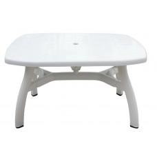 Πλαστικό Τραπέζι Βασιλιάς OEM  0124 80x125xY72εκ - Λευκό