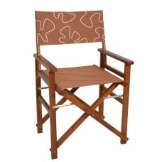 Καρέκλα Σκηνοθέτη Με Καφέ Πανί Και Σχέδιο OEM 54x47x88υψ