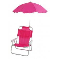 Καρεκλάκι Παραλίας Παιδικό με Ομπρέλα Φούξια 735471 OEM 38x30x49υψ ύψος καθίσματος 18εκ.