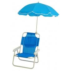 Καρεκλάκι Παραλίας Παιδικό με Ομπρέλα Μπλε 735488 OEM 38x30x49υψ ύψος καθίσματος 18εκ.