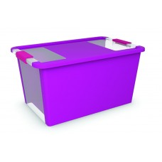 Κουτί Αποθήκευσης με Καπάκι Bi-Box L 40lt. Μωβ 55x35x28υψος