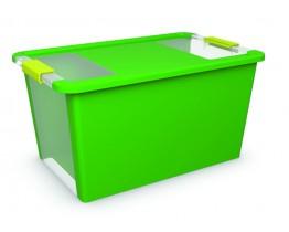 Κουτί Αποθήκευσης με Καπάκι Bi-Box L 40lt. Πράσινο 55x35x28υψος