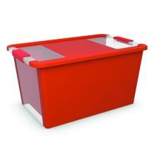 Κουτί Αποθήκευσης με Καπάκι Bi-Box L 40lt. Κόκκινο 55x35x28υψος