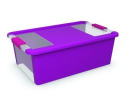 Κουτί Αποθήκευσης με Καπάκι Bi-Box M 26lt. Μωβ 55x35x19υψος