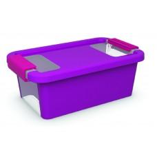 Κουτί Αποθήκευσης με Καπάκι Bi-Box XS 3lt. Μωβ 16x26,5x10ύψος