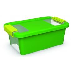 Κουτί Αποθήκευσης με Καπάκι Bi-Box XS 3lt. Πράσινο 16x26,5x10ύψος