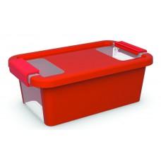Κουτί Αποθήκευσης με Καπάκι Bi-Box XS 3lt. Κόκκινο 16x26,5x10ύψος
