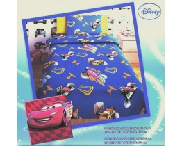Σετ Σεντόνια Μονά Παιδικά CARS BLUE 155x260εκ OEM