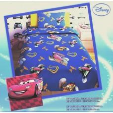 Σεντόνι Παιδικό Με Μαξιλαροθήκη CARS BLUE 165x260εκ OEM