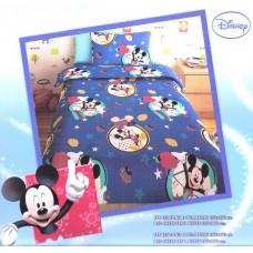 Σεντόνι Παιδικό Με Μαξιλαροθήκη MICKEY BLUE 165x260εκ