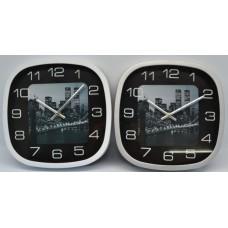 Ρολόι Τοίχου Πλαστικό Τετράγωνο 751143 OEM