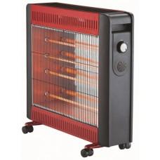 Θερμάστρα Ηλεκτρική Χαλαζία Μαύρη-Κόκκινη ANKOR 750092 63x14x58υψ