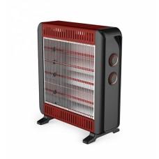 Θερμάστρα Ηλεκτρική Χαλαζία Μαύρη-Κόκκινη ANKOR 750214 50x15x57υψ