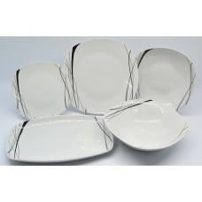 Πιάτο Πορσελάνης Βαθύ 22εκ. Τετράγωνο 1210-095 OEM 22x22εκ