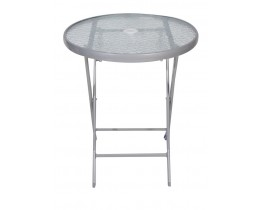 Τραπέζι Μεταλλικό Στρογγυλό Πτυσσόμενο Γκρι 60εκ60x60x72υψ OEM TAB-F60