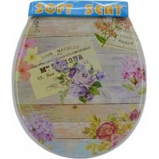 Καπάκι Τουαλέτας Ροζ Λουλούδι Μαλακό 757251 OEM