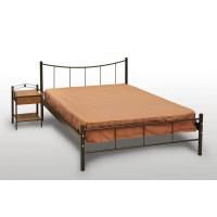 Κρεβάτι Διπλό Με Τάβλες και Με Στρώμα 'Χαμόγελο' 150x200cm