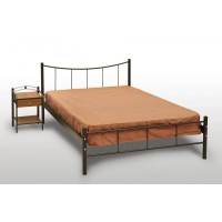 Κρεβάτι Διπλό Με Τάβλες και Με Στρώμα 'Χαμόγελο' 160x210cm